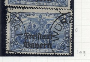 Bayern 1919 Early Issue Fine Used 2M. Optd NW-10692