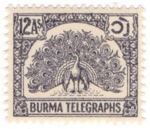 (I.B) Burma Telegraphs : Old Currency 12a