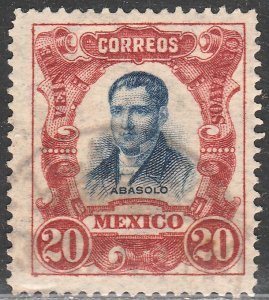 MEXICO 317, 20cts INDEPENDENCE CENTENNIAL 1910 COMMEM USED. F-VF (224)