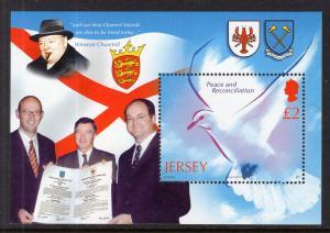 Jersey 1163 Peace Souvenir Sheet MNH VF