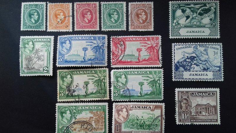 Jamaica King George VI Used