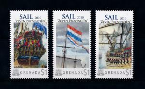 [78726] Grenada 2009 Ships Seven Provinces Sail Michiel de Ruyter MNH