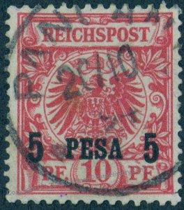 Germany 1894 East Africa Ostafrika PANGANI DOA Mi 3 Ia Expertized 93975
