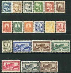 TUNISIA-1931 Set of 19 Values Sg 172-91 LIGHTLY MOUNTED MINT V36510