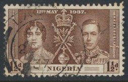 Nigeria  SG 47  SC# 51  Used Coronation 1937 please see scan
