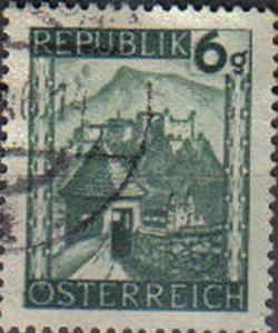 AUSTRIA, 1945, used 6g Views.