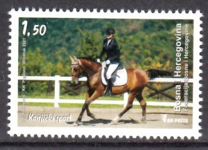 BOSNIA HERZEGOVINA 2021 EQUESTRIAN HORSE PFERDE CHEVAUX [#2109]