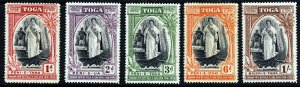 TONGA 1944 Queen Salote The Complete Silver Jubilee Set SG 83 to SG 87 MINT