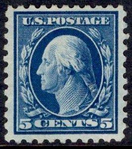 US Stamp #428 5c Washington UNUSED Regummed SCV $32.50 (as hinged)
