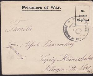 GB WWI POW cover to Germany ex Frith Hill Camp..............................3388