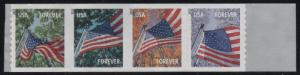 4773a Flags for all Seasons Strip of 4 MNH