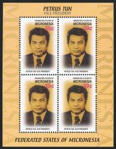 Micronesia 691 sheet/4,MNH. Vice-President Petrus Tun,1936-1999.2006.