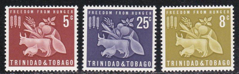 Trinidad & Tobago # 110-1112, Freedom from Hunger, NH, 1/2 Cat.