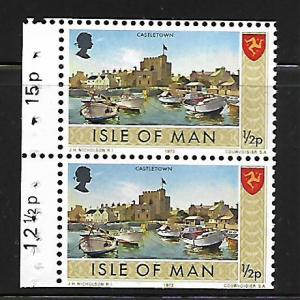 ISLE OF MAN 12a MNH BOOKLET PANE,  CASTLETOWN ISSUE