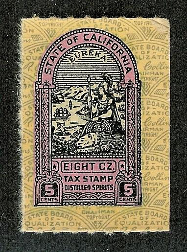California State Revenue Stamp 5c Liquor Tax # L16c