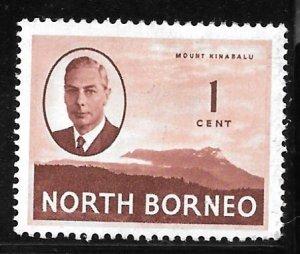 North Borneo 244: 1c Mount Kinabalu, MH, F-VF