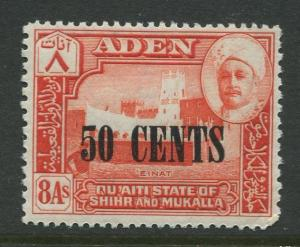 STAMP STATION PERTH Shihr & Mukalla #24 Overprint Issue 1951 MNH  CV$0.55