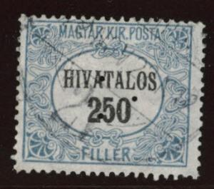 Hungary Scott o5 Used from 1921-1923 Official set