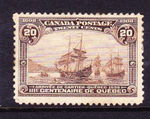 CANADA 1908  20c  BROWN  MHH  Sc 103