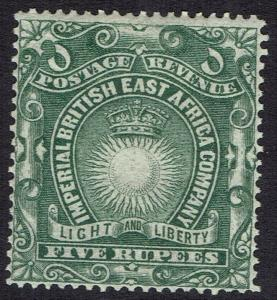 BRITISH EAST AFRICA 1890 LIGHT AND LIBERTY 5R