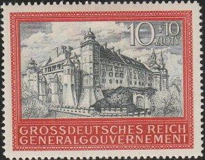 Stamp Germany Poland General Gov't Mi 125 Sc NB41 1944 WWII War Castle MNG