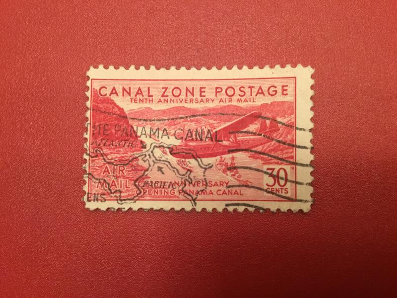 US Canal Zone C19 F-VF  Used High Cat