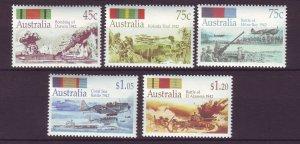 J24292 JLstamps 1992-5 australia set mnh #1253-7 battles
