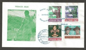 1962 Haiti airport ovpt Boy Scouts FDC