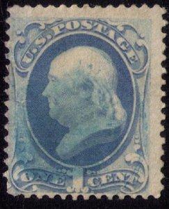 US Scott #145 Used Rare Green Thumb Cancellation Fine