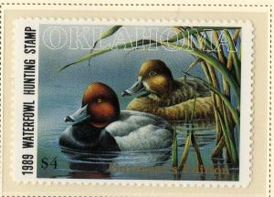 US OK10G OKLAHOMA STATE DUCK STAMP GOVERNOR'S ISSUE MNH SCV $110.00 BIN $55.00