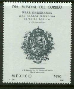 MEXICO 1525 Royal Ordinance for Maritime Mail MNH