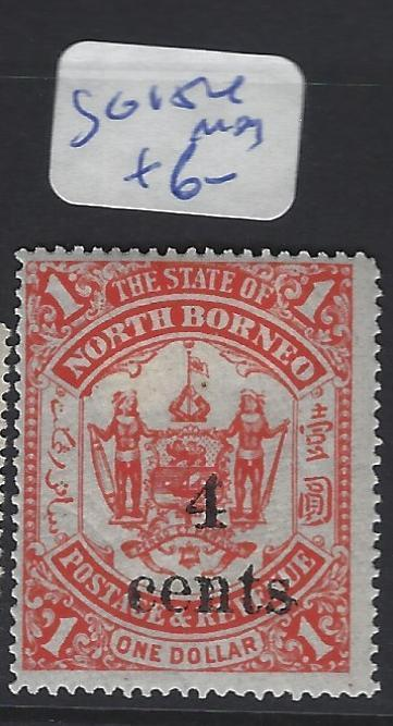 NORTH BORNEO  (PP2807B)  4C/$1.00   LION, ARMS SG 154   MOG