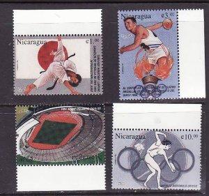 Nicaragua-Sc#2170-3-Unused NH set-Sports-Olympics-1996-