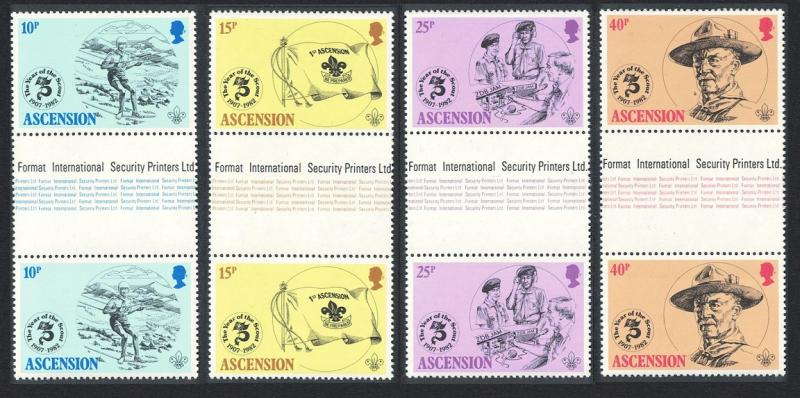Ascension Boy Scouts 4v Gutter Pairs SG#309-312 SC#301-304