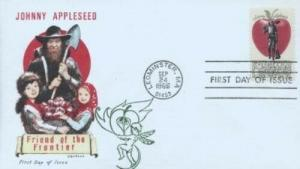 1317 5c JOHNNY APPLESEED 1966 - Overseas Mailers