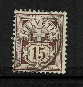 Switzerland - SC# 118 - Used - Wmk Large Crosses (Sm Shallow Thin) - Lot 073017