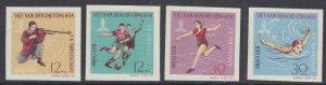 Vietnam 1966 MNH Stamps Scott 442-445 Imperf Sport Soccer Football Swimming