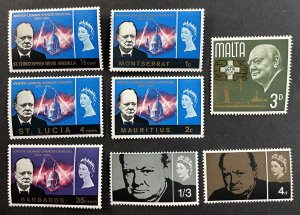 GB #420-421 MNH + Other Winston Churchill Stamps MNH [R782]