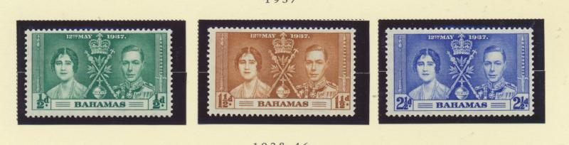 Bahamas Scott #97 To 99, Mint Light Hinge Marks MLH, Three Stamp Coronation, ...