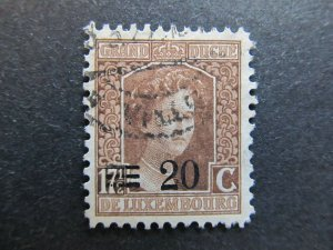 A4P27F101 Letzebuerg Luxembourg 1916-24 surch 20c on 17 1/2c used