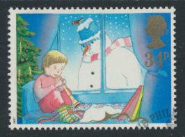 Great Britain  SG 1379 SC# 1200 Used / FU with First Day Cancel  Christmas 1987
