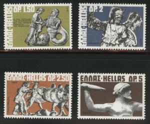 GREECE Scott 1053-1056 MH* 1972 set of singles