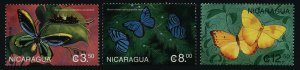 Nicaragua 2251-3 MNH Butterfly