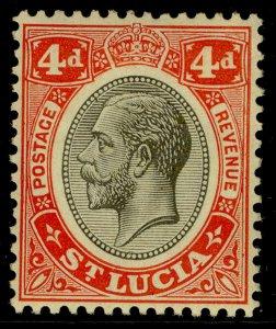 ST. LUCIA GV SG101, 6d grey-purple & purple, M MINT.