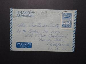Finland 1953 25mk Aerogramme to USA - Z12096