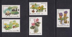 Russia MNH 5251-5 Water Plants & Lotus 1984