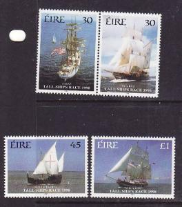 Ireland-Sc#1141-4-unused NH set-Tall Ships Race-1998-