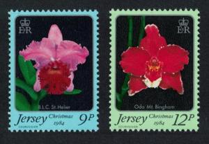 Jersey Orchids Christmas 2v SG#350-351