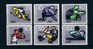 [43875] Yugoslavia 1964 Olympic games Tokyo Rowing Basketball Football MNH
