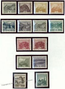Austria 1929 Large Scenes Landschaften Mi498-511 Postfrisch MNH 35369